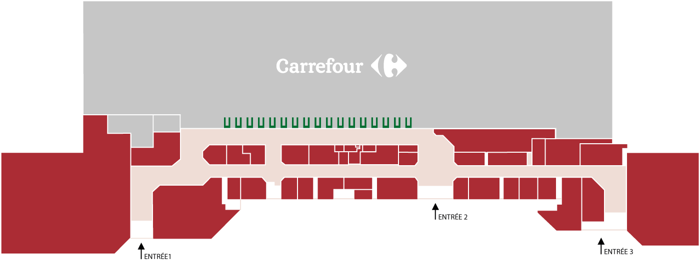 plan du centre centre commercial carrefour nevers marzy. Black Bedroom Furniture Sets. Home Design Ideas